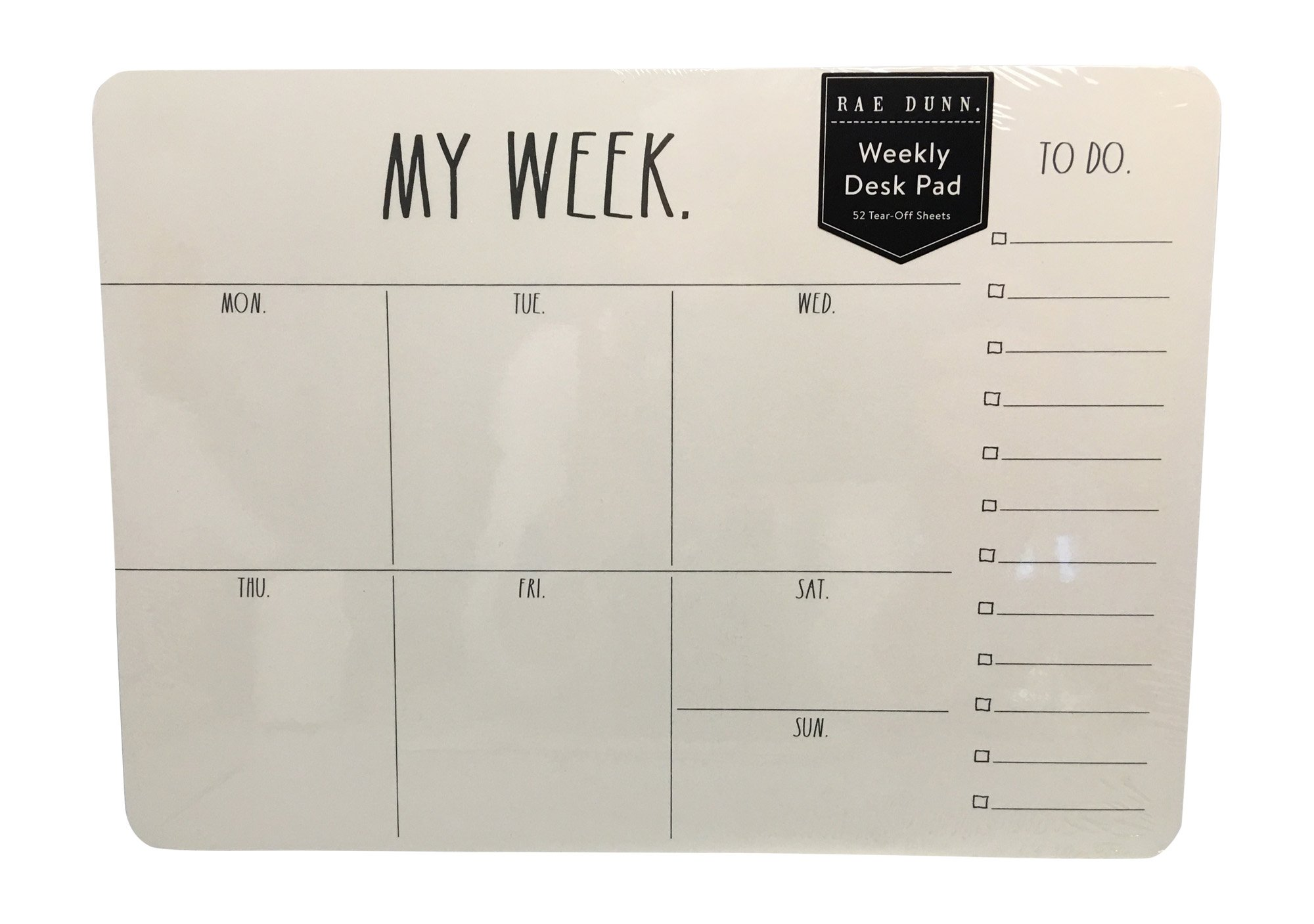 Rae Dunn Weekly Desk Pad - My Week to Do