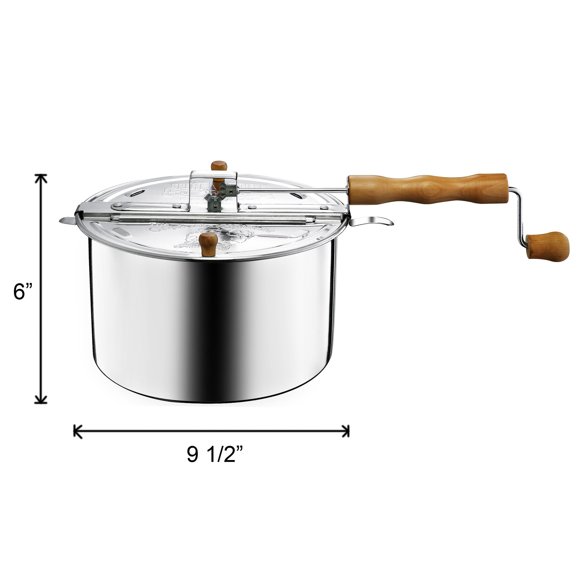 Great Northern Popcorn Original Spinner Stovetop 6-1/2-Quart Popcorn Popper by Great Northern Popcorn Company (Image #7)