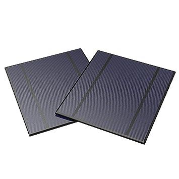 ALLPOWERS 2 Piezas 2.5W 5V/500mAh Mini Encapsulado Panel Solar Epoxi DIY Batería Cargador Kit para Energía Batería LED 130x150mm (Panel Solar Sólo)