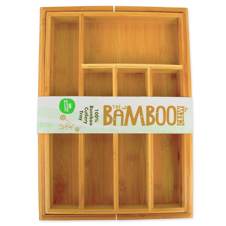 The Bamboo Crew Bambus Besteckeinsatz - Holz Besteckeinsatz ...