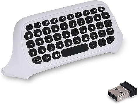 MoKo Xbox One Mini Teclado - 2.4G Receptor Inalámbrico Chatpad ...