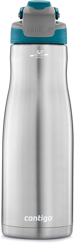 Contigo 2079447 AUTOSEAL Chill Water Bottle, 32 oz, Juniper Lid