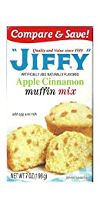 Jiffy Apple Cinnamon Muffin Mix 7-oz Boxes (Pack of 6)