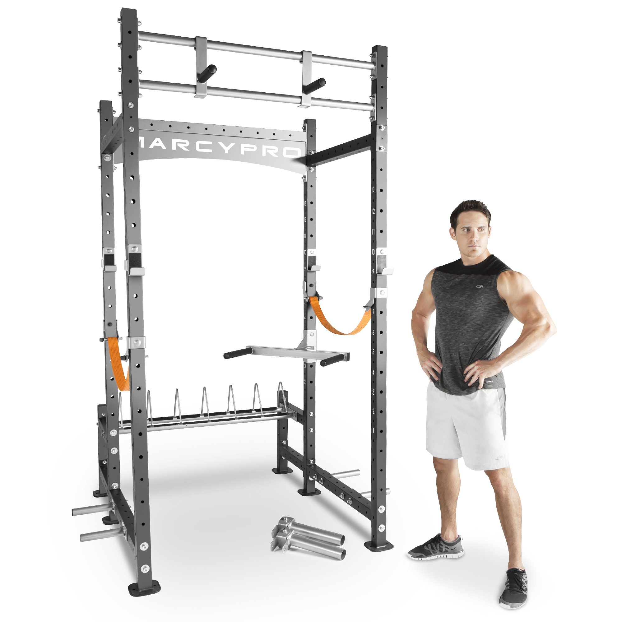Marcy Pro Heavy-Duty Home Workout Gym Pull Up Weight Training Fitness Power Rack by Impex