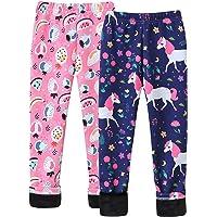 Happy Cherry 2/3 Pack Leggings Niña Invierno Leggins Estampados Lindos Pantalones Térmicos Suaves de Cintura Elástica 3…