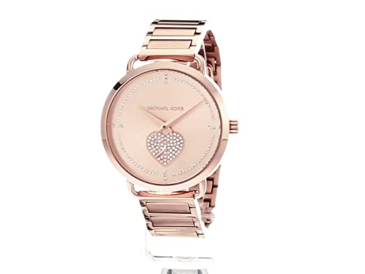 ee65f314b116 Michael Kors Women s Portia Analog Display Analog Quartz Rose Gold Watch  MK3827  Amazon.ca  Watches