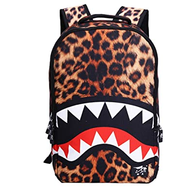 free shipping Luckywe Waterproof Cool Shark Bag Backpack Unisex Outdoor Backpack