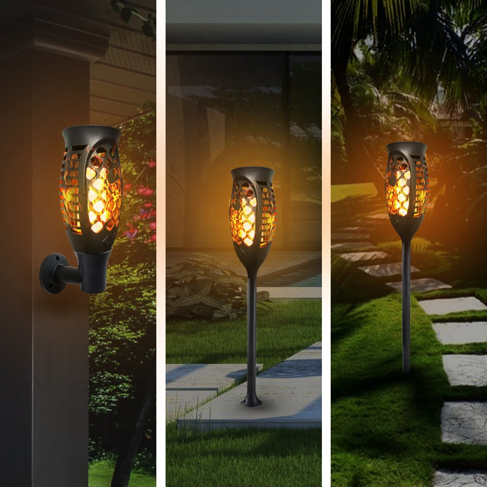 Petrala Solar Lights Outdoor Torch Light 3 Modes Dancing Flames Waterproof Dusk to Dawn Auto On Off Warm Path Lighting for Patio Garden Path Driveway, 4 Pack by Petrala (Image #7)