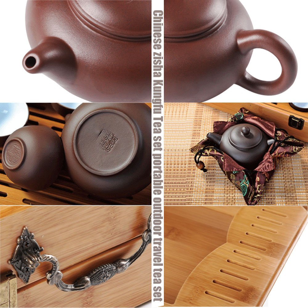 Home tea(TM) Chinese zisha Kungfu Tea set portable outdoor travel tea set by Home tea (Image #4)