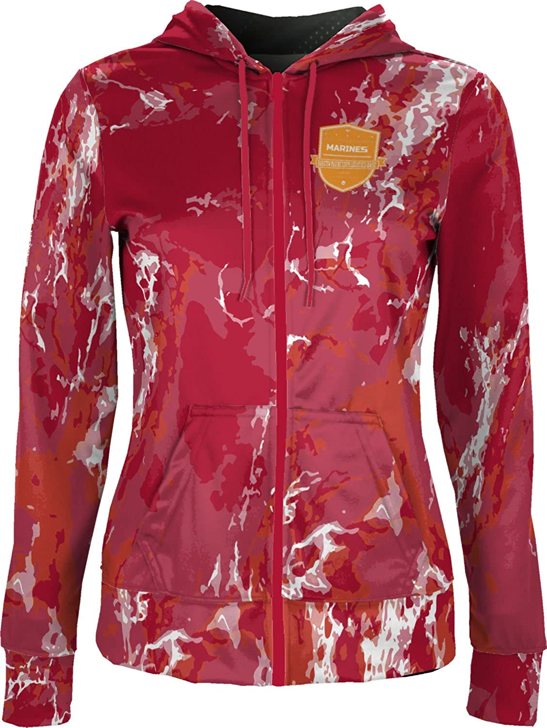 Women's Barstow Marine Corps Logistics Base Military Marble Fullzip Hoodie