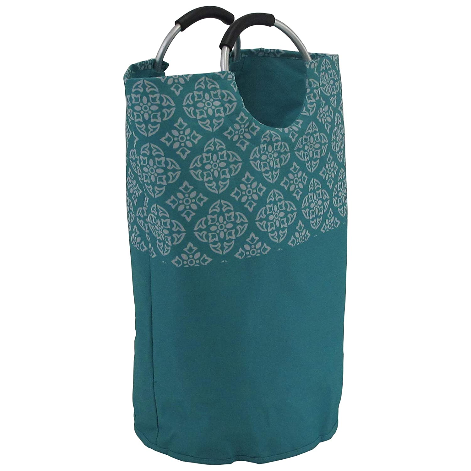 Redmon Medallion Comfort Grip Hamper, Teal, Full