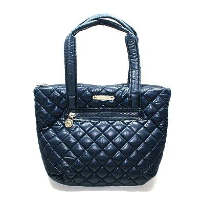 f11d2eca26ad3f Amazon.com: Michael Kors Sadie Quilted Navy Blue Nylon Tote (Blue)  #30F3GAET3C: Shoes