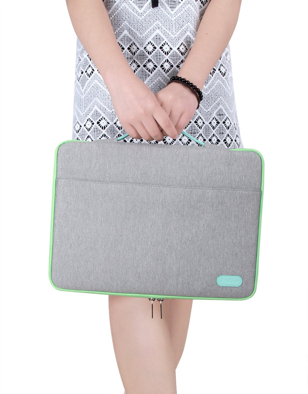 ProCase 14-15.6 Inch Laptop Sleeve Case Protective Bag, Ultrabook Notebook Carrying Case Handbag for 14'' 15'' Samsung Sony Asus Acer Lenovo Dell HP Toshiba Chromebook Computers -Light Grey by ProCase (Image #8)