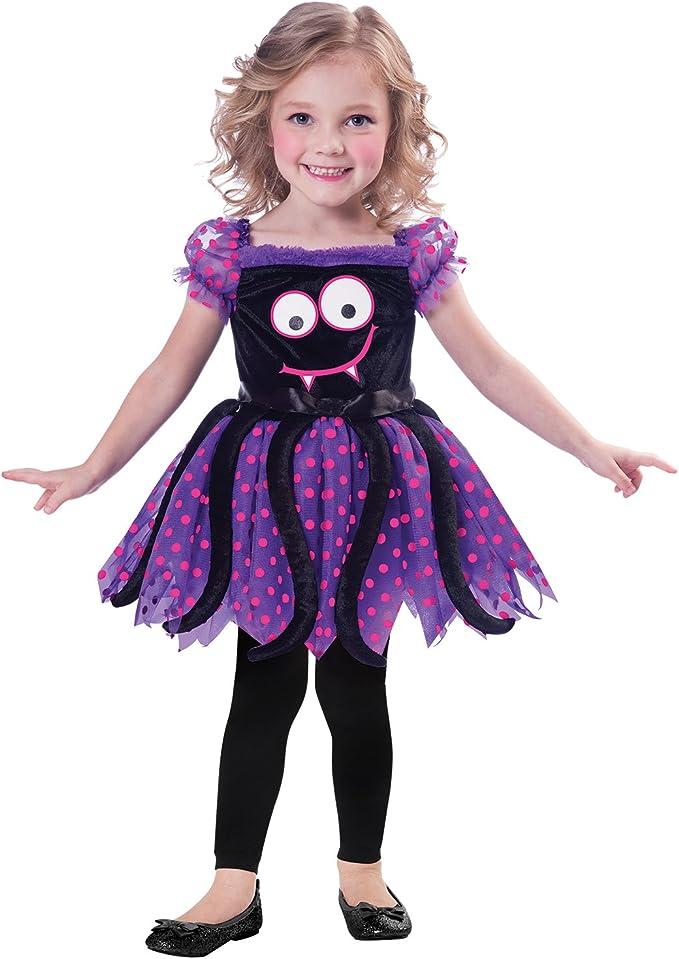 Amscan Disfraz de araña Linda Infantil para niños de Entre 3 y 4 ...