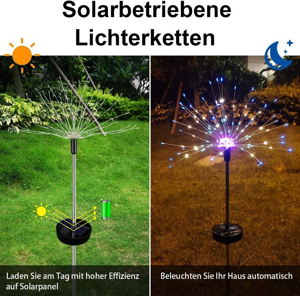 2 x lampe solaire DEL avec l/'Allemagne-Drapeau /& 1 x Solaire DEL Guirlande électrique de jardin