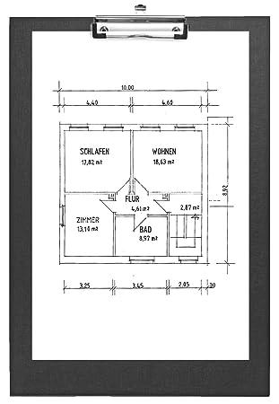 VELOFLEX 10 x Schreibplatte A4 PP quer schwarz
