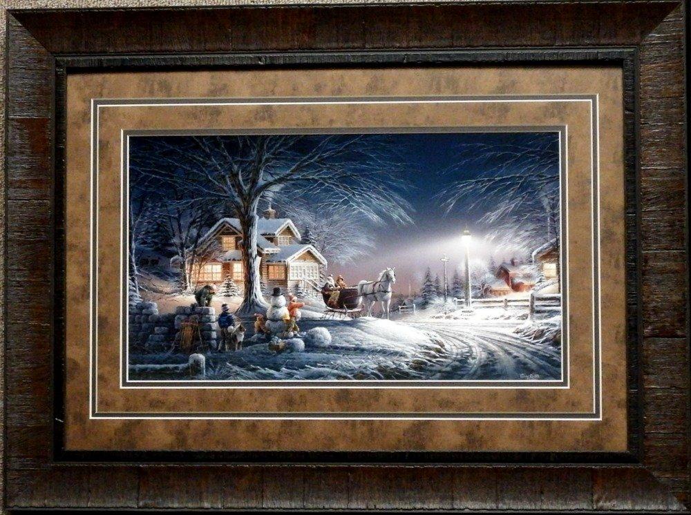 Amazon.com: Terry Redlin Winter Wonderland Children Snowman Print ...