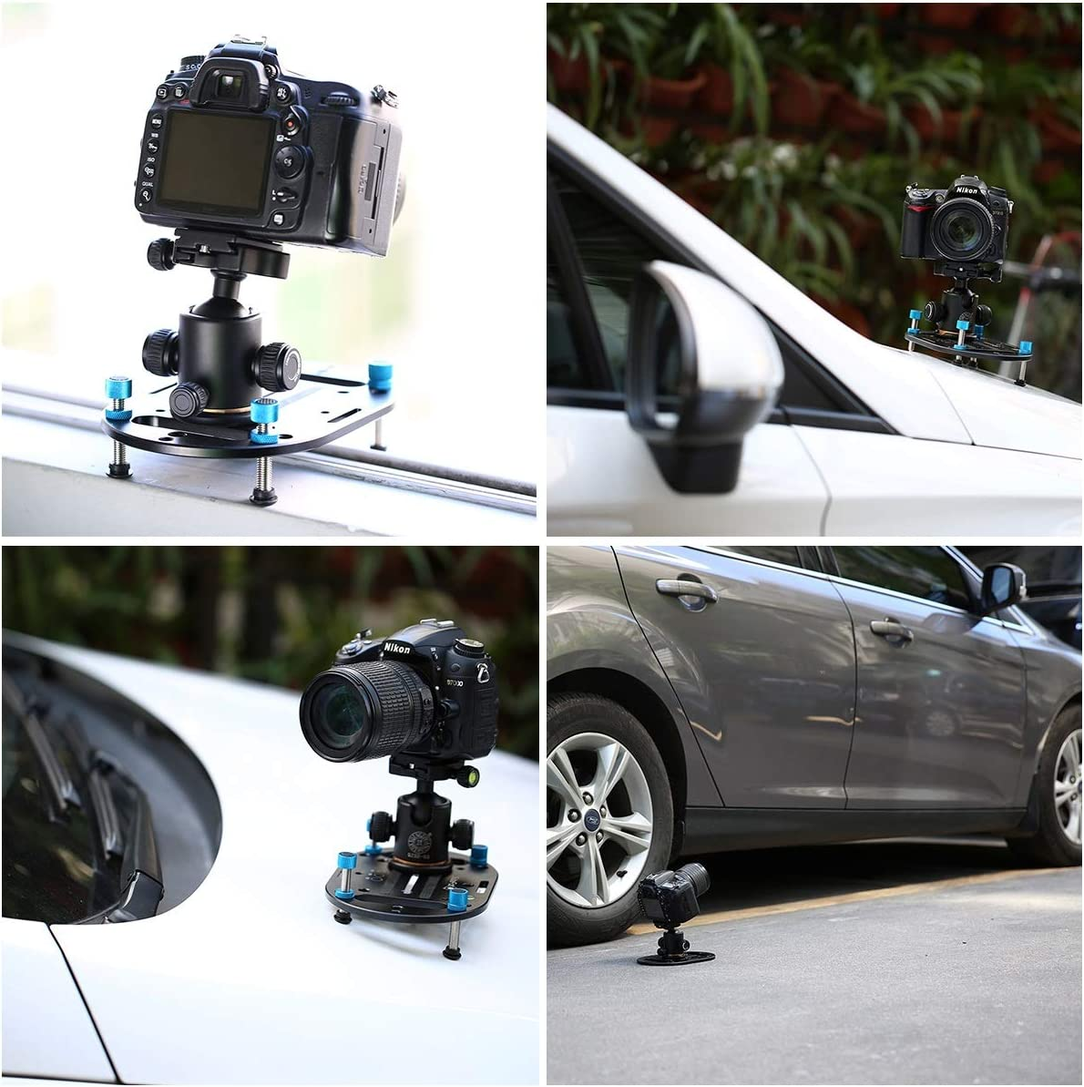 Color : Black Jusun Low Tripod Most Compact Mini Tripod Camera Universal Mounting Plate and Versatile Photography Base for Any DSLR