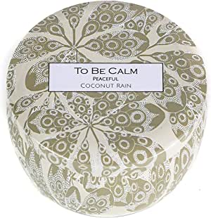 To Be Calm CSM-PEA Peaceful Coconut Rain Mini Soy Candle,Beige