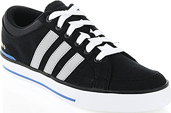 adidas Neo Label BBNeo Skool Lo Black/Grey/Yellow Size 7.5: Amazon ...