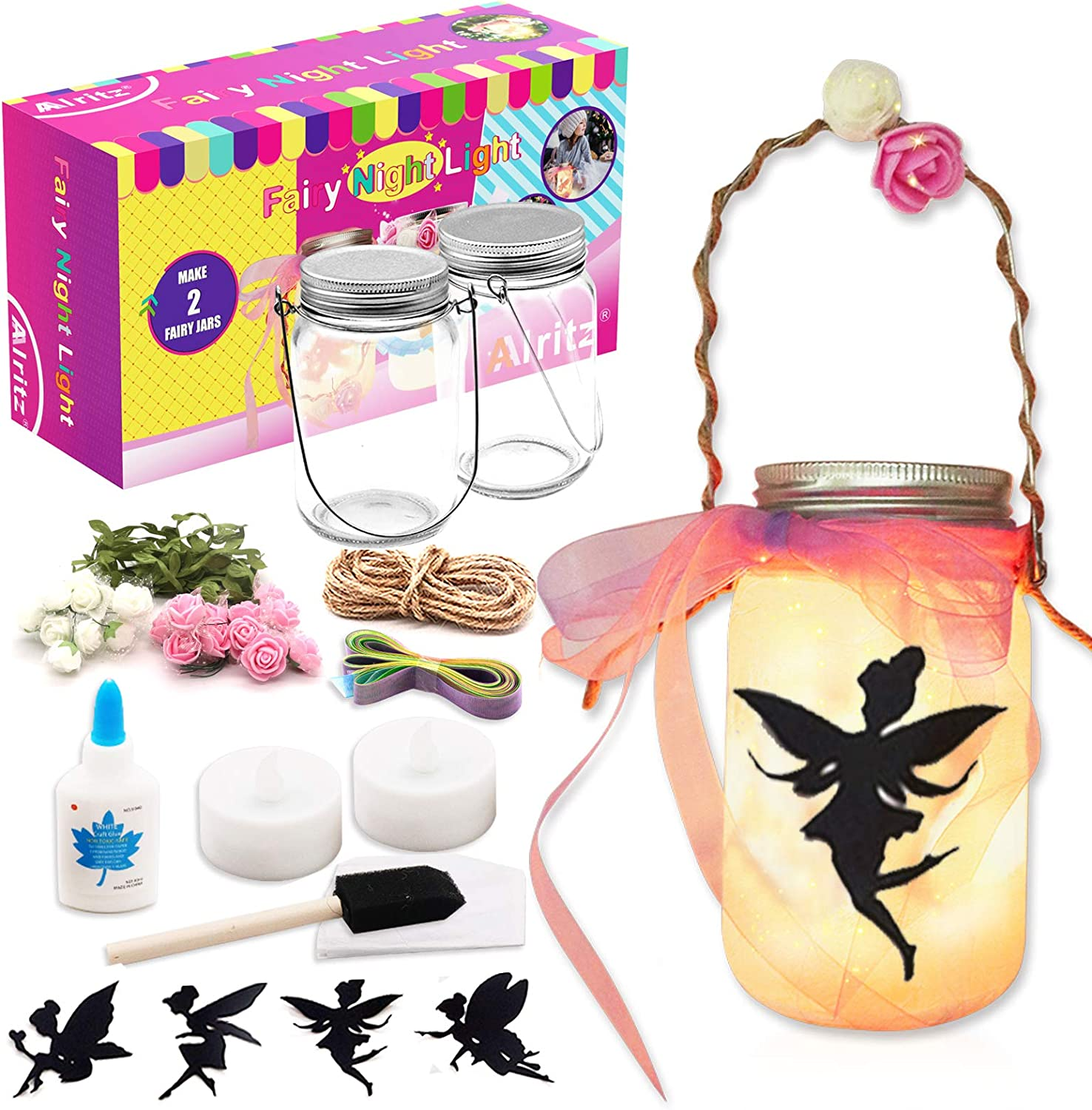 Lamp Twinkle Lantern Etching Cork Light Included Magical Glittering Horse Heart Fairy Light Recycled Bottle - Sparkle Night Light