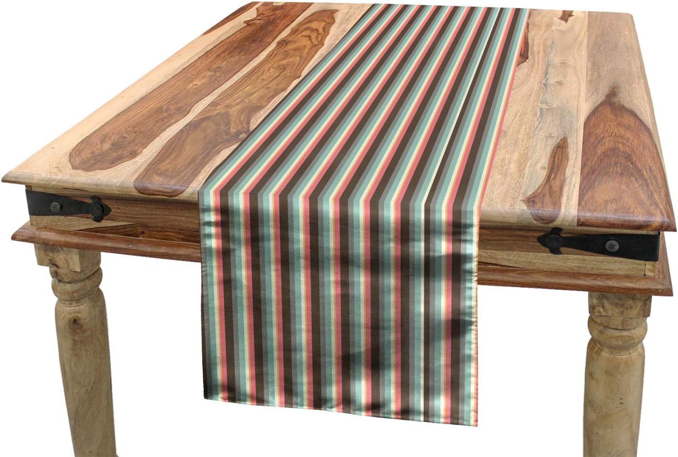 Amazon.com: Lunarable Striped Table Runner, Retro Vertical Lines