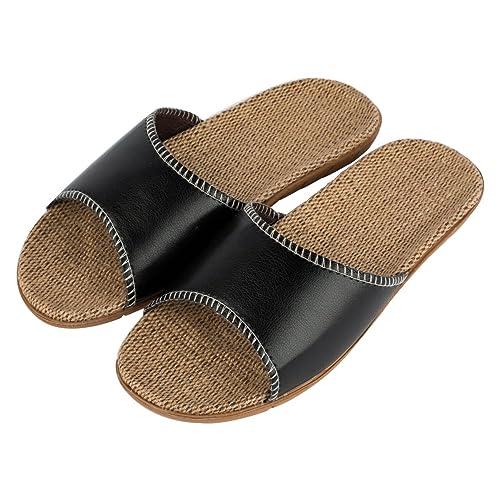 come scegliere davvero economico Guantity limitata Haisum Uomo Lusso all'aperto Estive Comode Antiscivolo Punta Aperta  Pantofole Pelle Freddo Ciabatte
