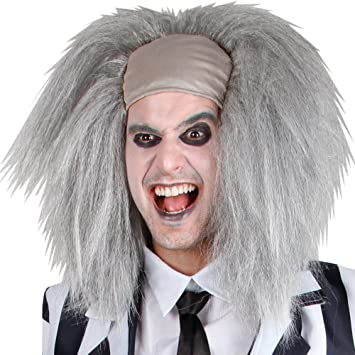 Crazy Spirit / Mad Scientist / Beetlejuice Style Fancy Dress Party Halloween Wig (peluca)
