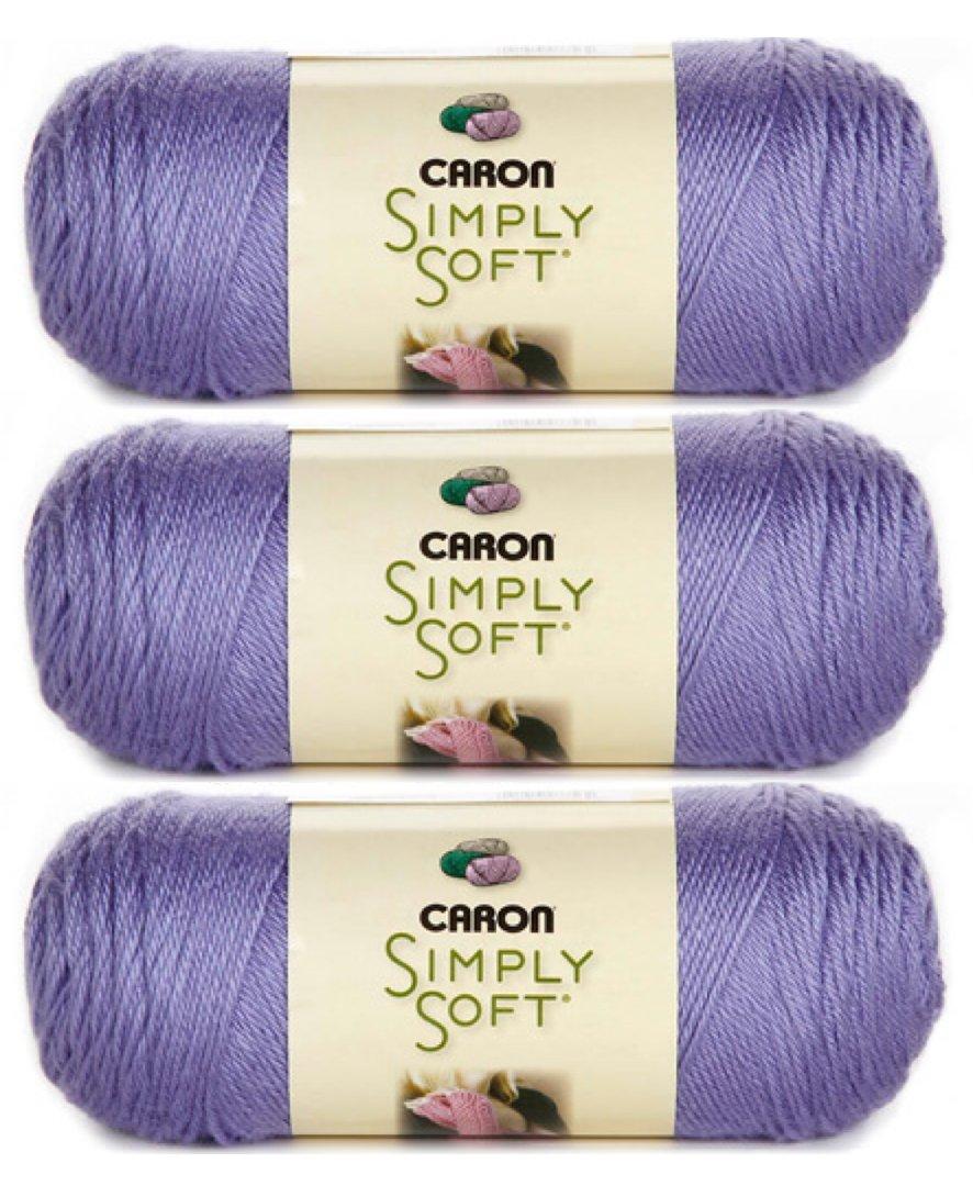 Bulk Buy: Caron Simply Soft Yarn Solids (3-Pack) Lavender Blue H97003-9756