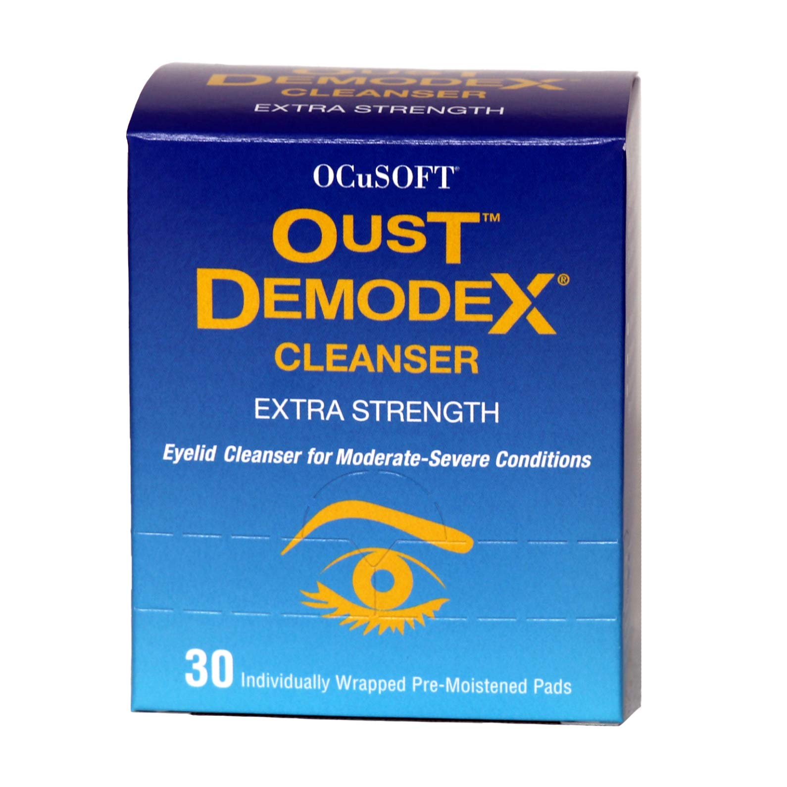 Oust Demodex Cleanser (Extra Strength) - 30 Pre-Moistened Pads by Oust Demodex