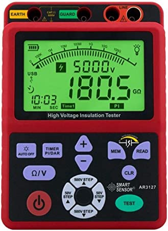 LHQ-HQ Aislamiento de Alta tensión Digital probador de Resistencia de 5000V Sacudida Tabla electrónica Mesa 0.0-99.9G Ohm Resistor AR3127: Amazon.es: Hogar