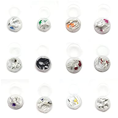 TFD Supplies Wholesale Bulk Hard Shell Plastic Carrying Storage Case Earbuds Headphones 50 Pack for iPhone, Android, MP3 Player – Mixed Colors