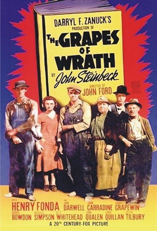 Amazon.com: The Grapes of Wrath, Henry Fonda, Movie, Poster Art ...
