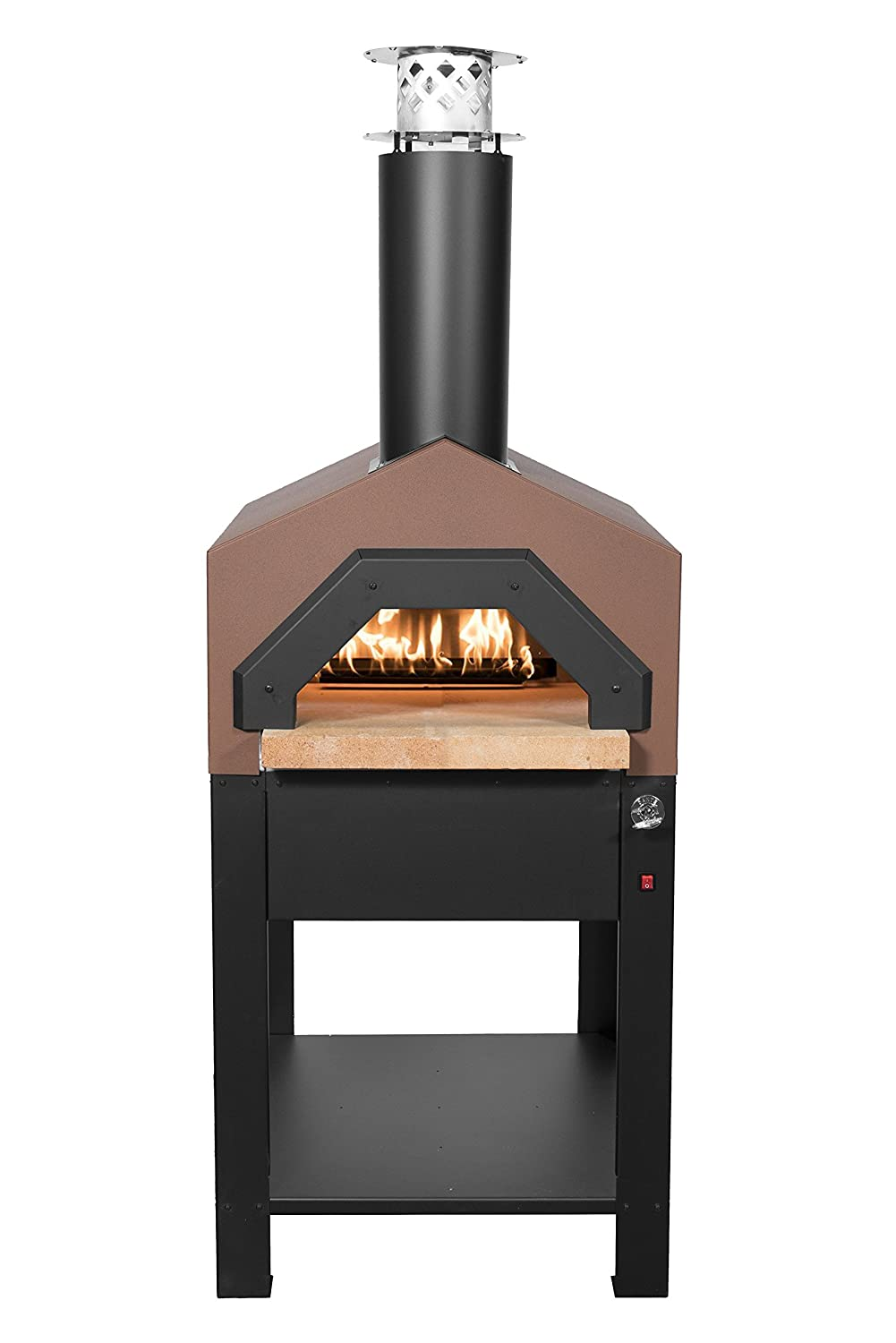Chicago Brick Oven Americano Wood-Fired Outdoor Pizza Oven Hybrid, Stand (Propane Gas, Terra Cotta)