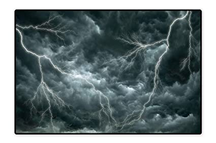 Amazon com: Perfect Kitchen Rugs Large Ominous Rain Clouds with