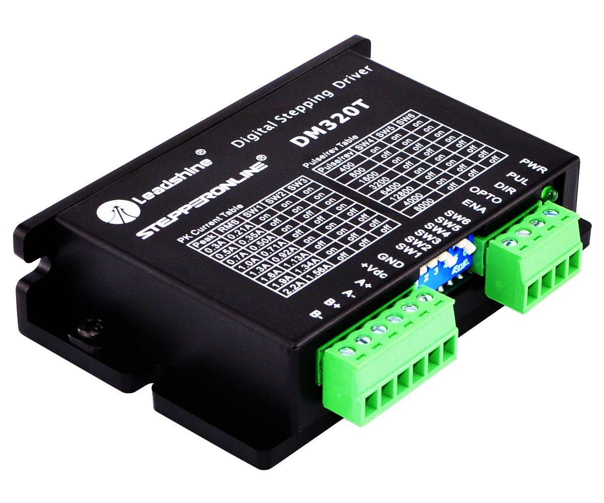 17 Stepper Motor 16 14 11 STEPPERONLINE Digital Stepper Driver 0.3-2.2A 10-30VDC 1//64 Micro-step Resolutions for Nema 8