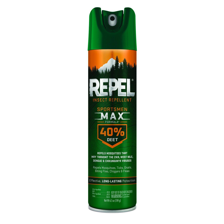 Repel Insect Repellent Sportsmen Max Formula 40% DEET, Aerosol, 6.5-Ounce, 6-Pack by Repel