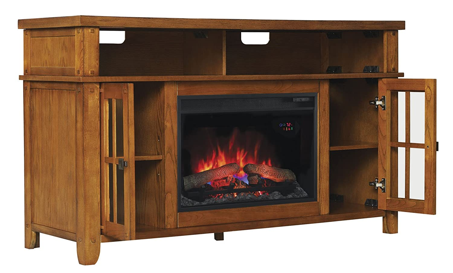 "Amazon.com: ClassicFlame  Dakota TV Stand for TVs up to 65"": Home & Kitchen"