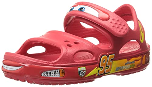 ae0a9659935752 crocs Boy s Crocband II Cars PS AS Red Rubber Sandals and Floaters - C11