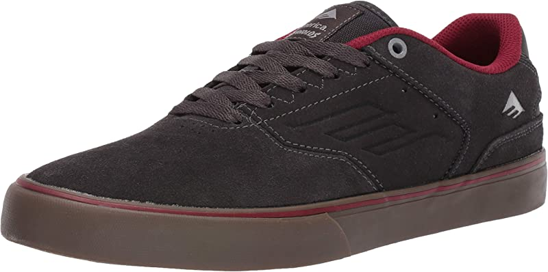Emerica Reynolds Low Vulc Sneakers Damen Herren Unisex Dunkelgrau/Rot/Kautschuk