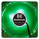オウルテック PCケース用オリジナルLEDファン 8cm 25mm厚 1600rpm 静音 リブ無し 1年保証 グリーン OWL-FE0825LL-GN