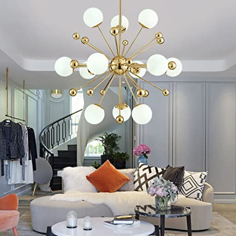 Sputnik Firework Chandelier Lighting 12 Lights Modern Pendant Lighting/Ceiling  Light Fixture For Living Room