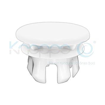 KNOPPO/® Waschbecken /Überlauf Abdeckung Mirror /Überlaufblende wei/ß