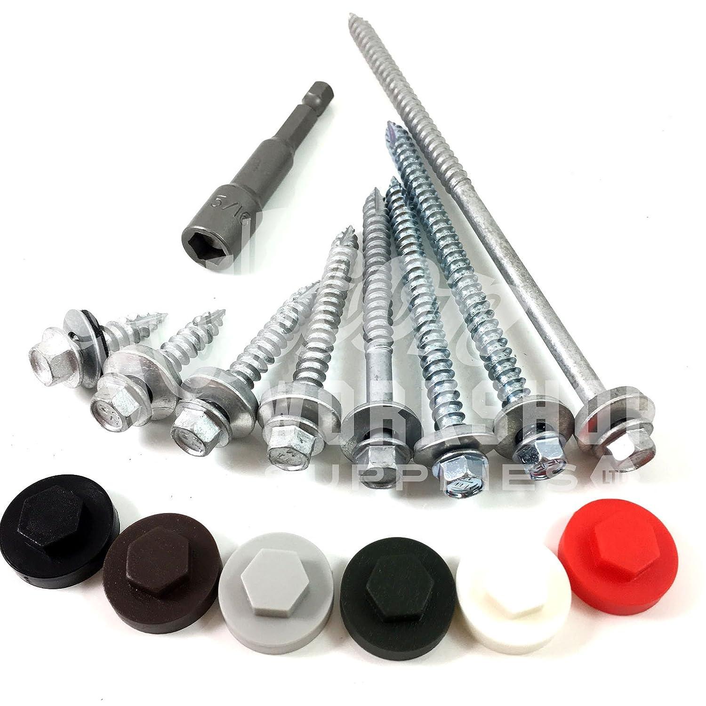Roofing Sheet Colour caps for screws Pack of 100 TEK Screw Colour Caps