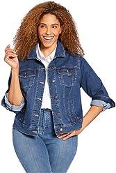 f2a9af3f975a6 Woman Within Plus Size Stretch Denim Jacket