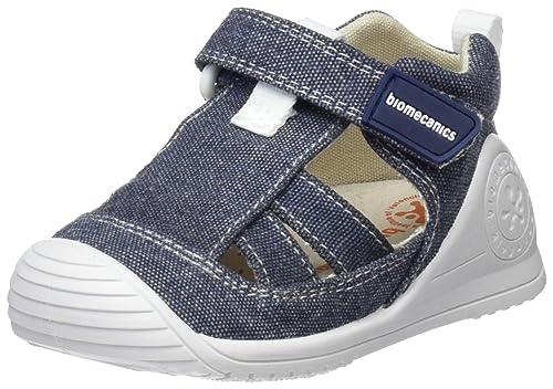 Biomecanics 182122, Zapatillas de Estar por casa para Bebés, Azul (White/Light Blue), 18 EU: Amazon.es: Zapatos y complementos