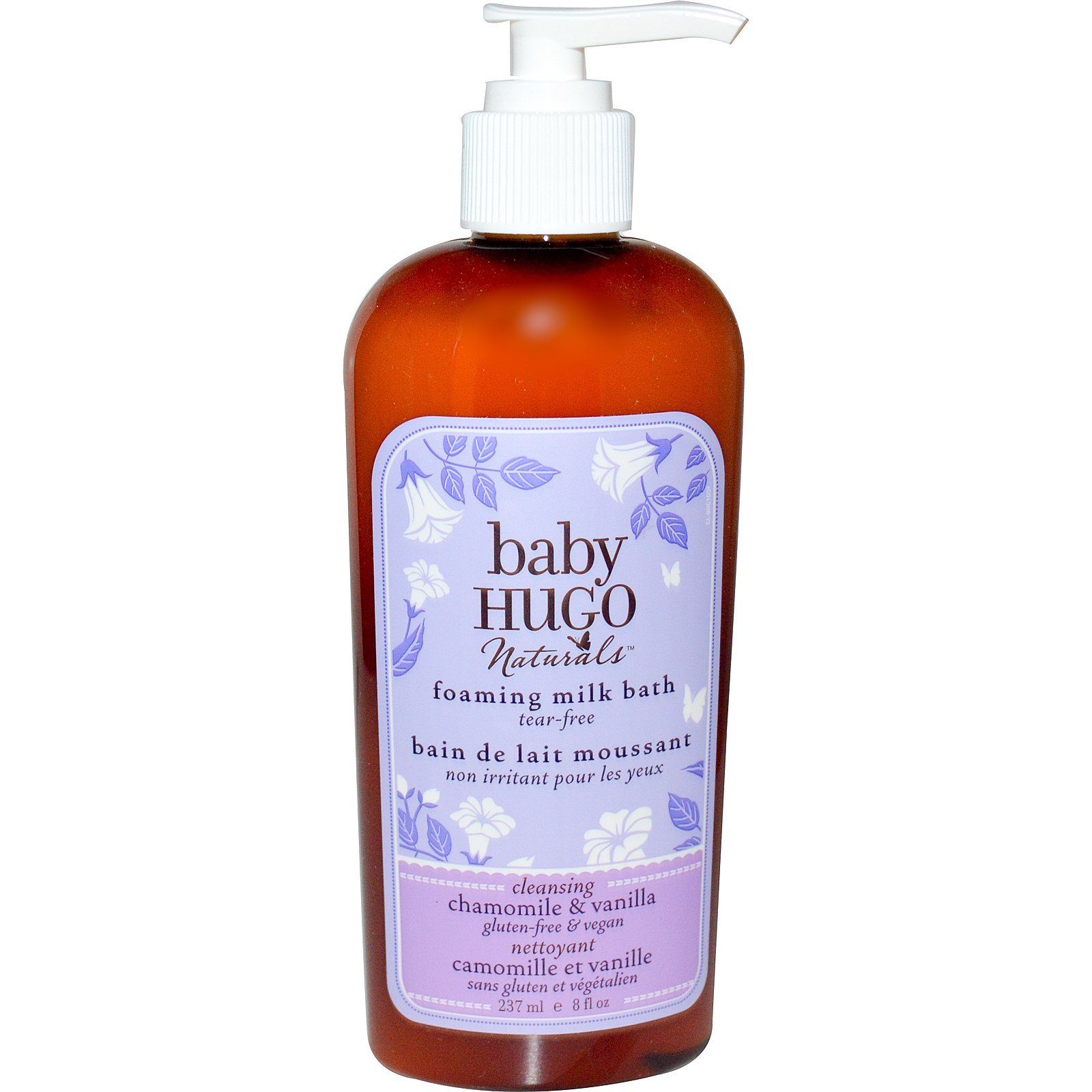 Hugo Naturals, Baby, Foaming Milk Bath, Chamomile & Vanilla, 8 fl oz (237 ml) - 3PC