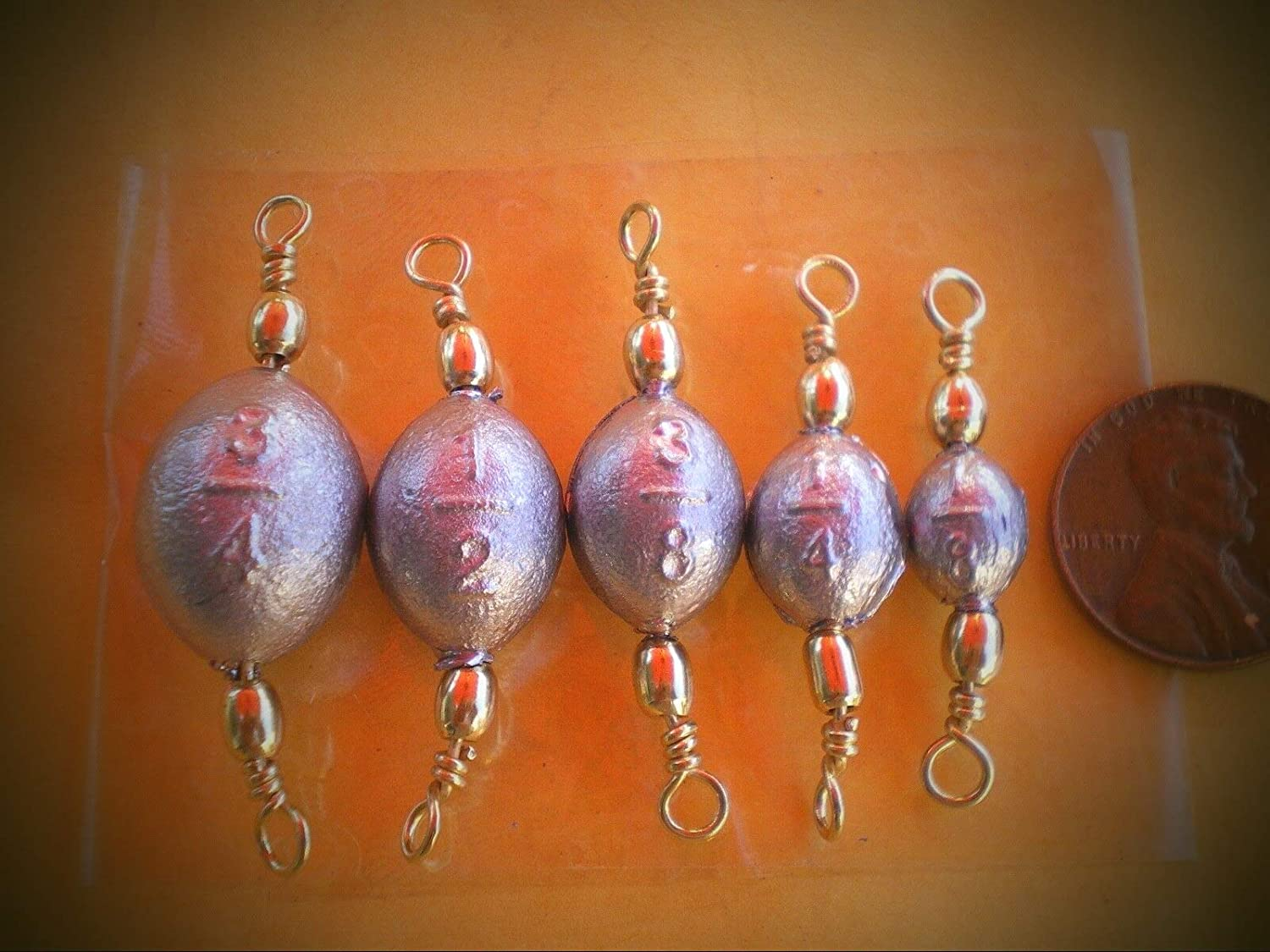 Bank Sinkers 3//8 oz fishing weights FAST FREE SHIPPING 100 Bell