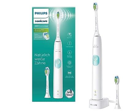Philips Sonicare ProtectiveClean 4300 elektrische Zahnbürste HX6807/51 – Schallzahnbürste mit Clean-Putzprogamm, Andruckkontr