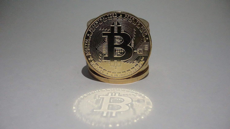 Physical Bitcoin in protective acrylic case FAST SHIPPING Novelty Coin OU